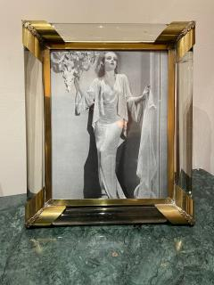 Glamorous Art Deco Glass and Brass Picture Frame - 1748909