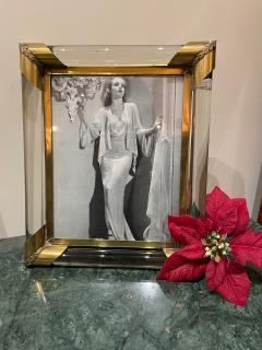 Glamorous Art Deco Glass and Brass Picture Frame - 1748914