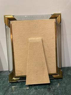 Glamorous Art Deco Glass and Brass Picture Frame - 1748924