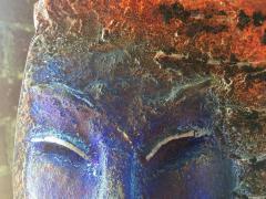 Glass Sculpture of a Woman Bust on a Metal Pedestal - 1210170