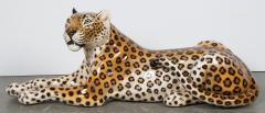 Glazed ceramic Leopard 20th Century - 987872