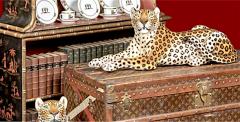 Glazed ceramic Leopard 20th Century - 987873