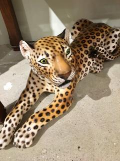 Glazed ceramic Leopard 20th Century - 988776