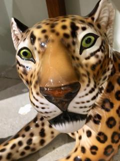 Glazed ceramic Leopard 20th Century - 988784