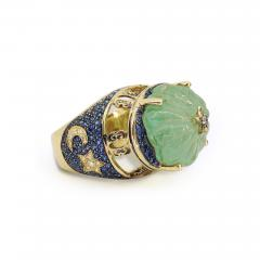 Glenn Bradford Fine Jewelry Heaven Earth Emerald Cocktail Ring - 1096298