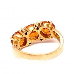 Glittering Gemjunky Spessartite Garnet with diamond 18K gold ring - 1631527