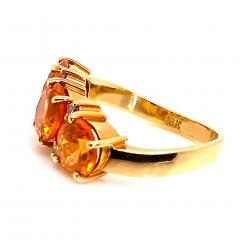 Glittering Gemjunky Spessartite Garnet with diamond 18K gold ring - 1631528