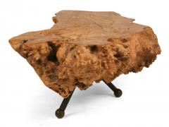 Gnarly Mexican Sabino Burl Slab Cocktail Table - 775423