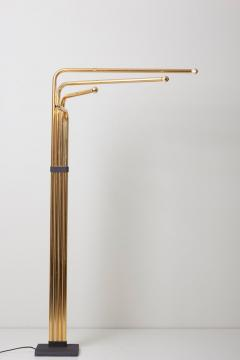 Goffredo Reggiani Adjustable Floor Lamp by Goffredo Reggiani in Brass Italy 1970s - 1033890