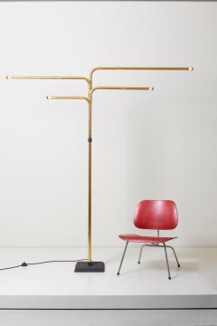Goffredo Reggiani Adjustable Floor Lamp by Goffredo Reggiani in Brass Italy 1970s - 1033895
