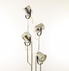 Goffredo Reggiani Chromed Reggiani floor lamp with four spotlights circa 1970 - 696348