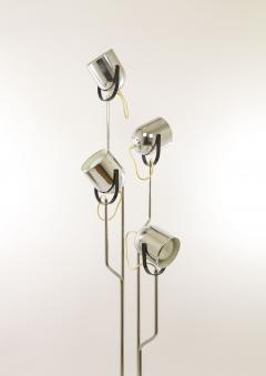 Goffredo Reggiani Chromed Reggiani floor lamp with four spotlights circa 1970 - 696356