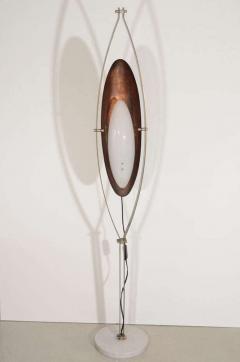 Goffredo Reggiani Goffredo Reggiani Copper and Perspex Floor Lamp with Marble Base - 809443