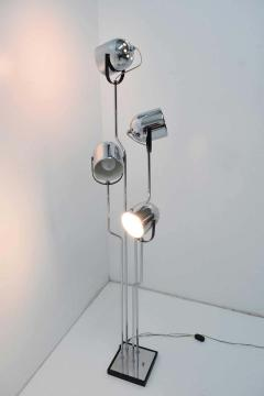 Goffredo Reggiani Reggiani 4 Head Chrome and Black Floor Lamp - 1274976