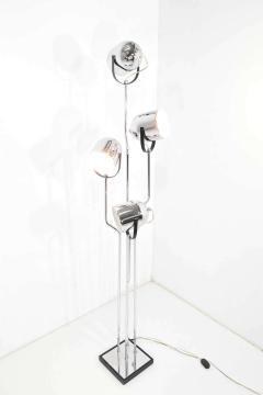 Goffredo Reggiani Reggiani 4 Head Chrome and Black Floor Lamp - 1274977
