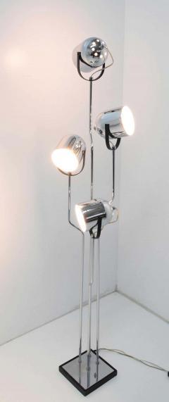 Goffredo Reggiani Reggiani 4 Head Chrome and Black Floor Lamp - 1274978