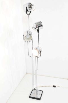 Goffredo Reggiani Reggiani 4 Head Chrome and Black Floor Lamp - 1274983