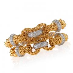 Gold Bracelet with Diamonds - 1116063