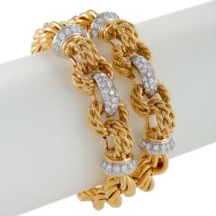 Gold Bracelet with Diamonds - 1116064
