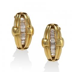 Gold Earrings with Diamonds - 888277