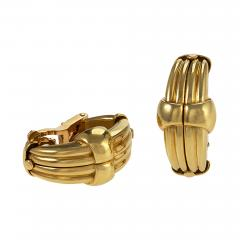 Gold Earrings with Diamonds - 889461
