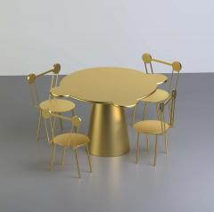 Gold Lacquered Wood Contemporary Donald Table by Chapel Petrassi - 1785284