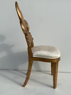 Gold Leaf Fleur de Lis Vanity Chair - 1152826