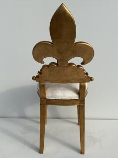 Gold Leaf Fleur de Lis Vanity Chair - 1152828