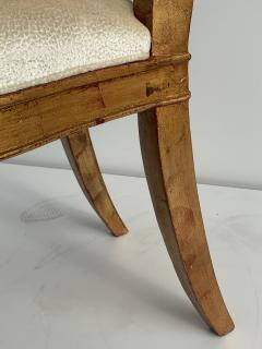 Gold Leaf Fleur de Lis Vanity Chair - 1152832