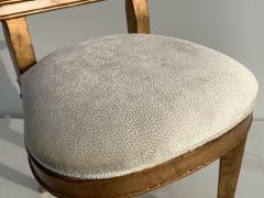 Gold Leaf Fleur de Lis Vanity Chair - 1152837