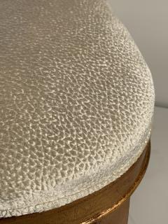 Gold Leaf Fleur de Lis Vanity Chair - 1152838