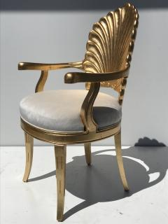 Gold Leafed Venetian Grotto Style Shell Armchairs - 567102