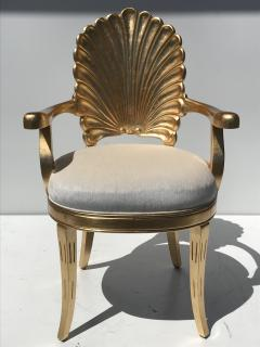 Gold Leafed Venetian Grotto Style Shell Armchairs - 567109