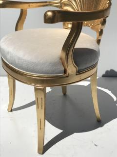 Gold Leafed Venetian Grotto Style Shell Armchairs - 567111