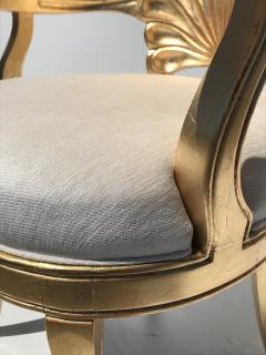 Gold Leafed Venetian Grotto Style Shell Armchairs - 567112
