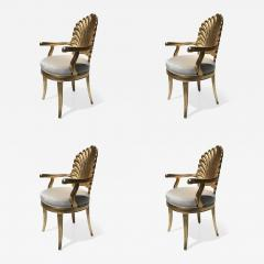 Gold Leafed Venetian Grotto Style Shell Armchairs - 568522