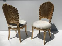 Gold Leafed Venetian Grotto Style Shell Side Chairs - 567088