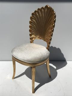 Gold Leafed Venetian Grotto Style Shell Side Chairs - 567089