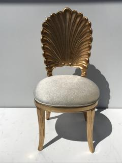 Gold Leafed Venetian Grotto Style Shell Side Chairs - 567090