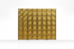 Gold Mid Century Room Divider Italy ca 1970s - 774469
