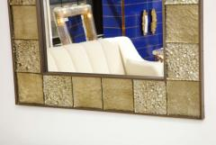 Gold Sculptural Murano Glass and Brass Rectangular Mirror Pair Available Italy - 1998524