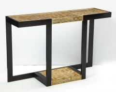 Gold and Silver Woven Mica Console - 776259