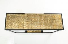 Gold and Silver Woven Mica Console - 776260