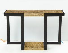 Gold and Silver Woven Mica Console - 776266