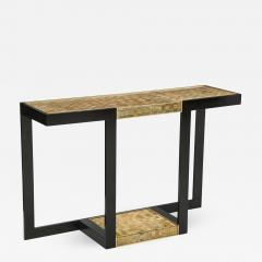 Gold and Silver Woven Mica Console - 777404