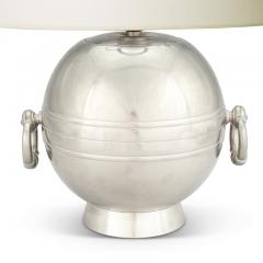 Goldsmedjarnas Aktiebolag Art Deco table lamp with hanging rings in pewter by GAB - 996244