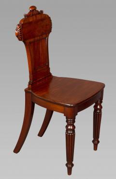 Good Pair Regency Mahogany Hall Chairs - 993820