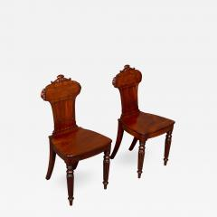 Good Pair Regency Mahogany Hall Chairs - 994916