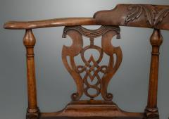 Good and Rare George III Carved Walnut Corner Armchair - 1233779