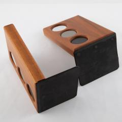 Gordon Jane Martz 1960s ceramic and walnut bookends by Gordon and Jane Martz for Marshall Studios - 1075579